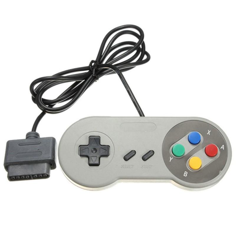 2x 16 Bit Super Nintendo Snes Console Control Pad Gamepad