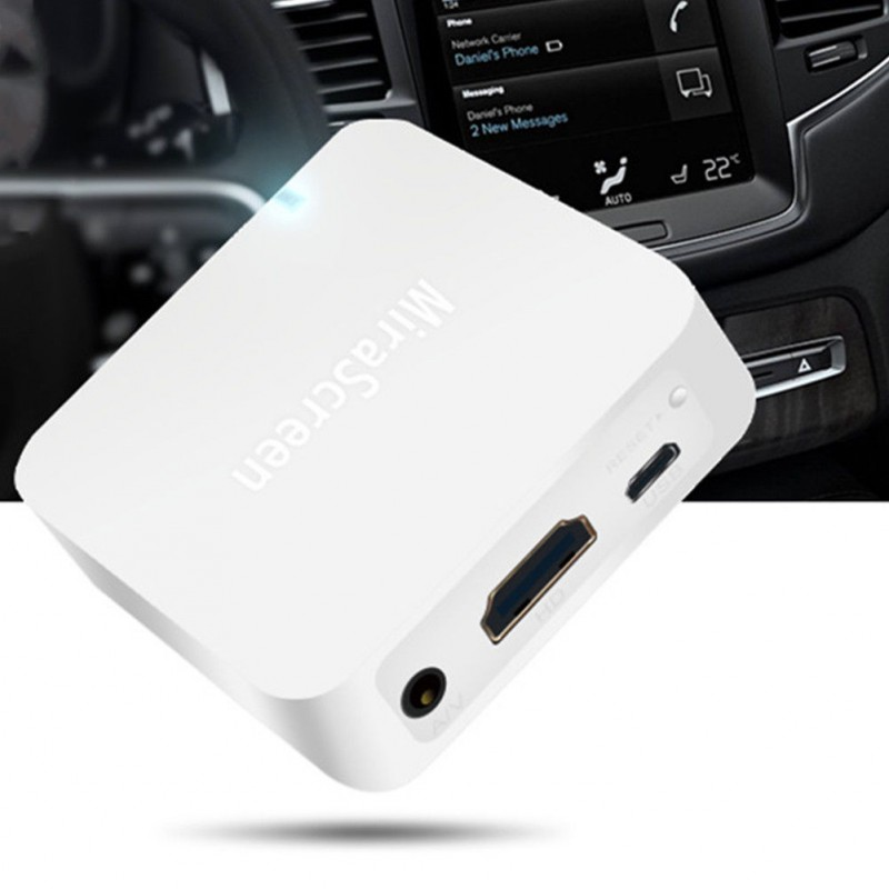 Car WiFi Display Mirror Link Adapter MiraScreen DLNA Airplay