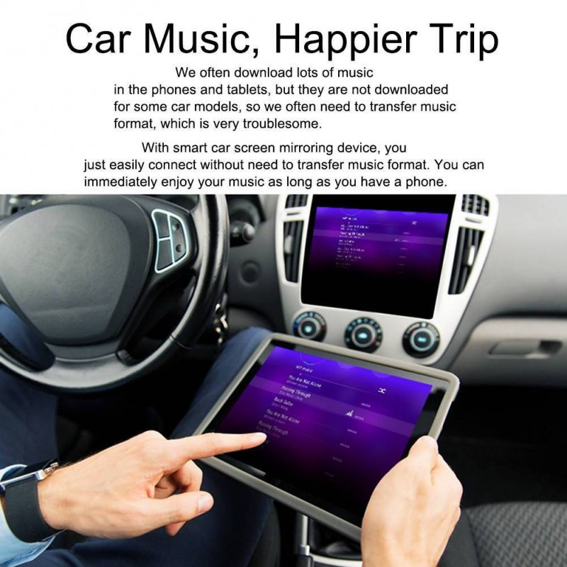 Car WiFi Display Mirror Link Adapter MiraScreen DLNA Airplay RCA For