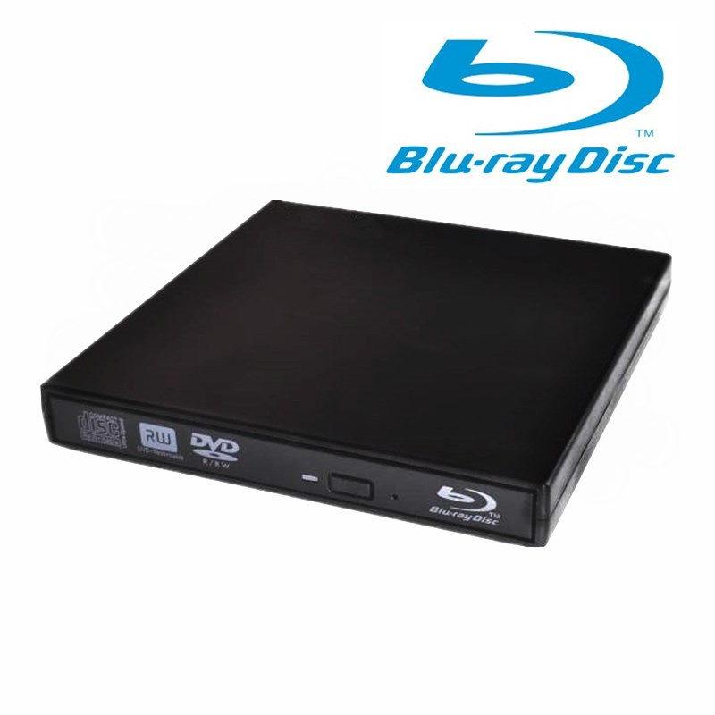 USB External Portable Blu-Ray Burner ReWriter Player Reader Drive