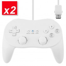 2x NEW White Classic Pro JoyPad GamePad Game Controller for Nintendo Wii Console