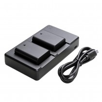2x Replacement Battery + USB Dual Charger for Sony Alpha a3000 Camera