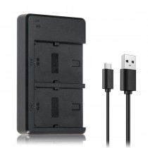 USB Dual Charger for Sony Camera Alpha a3000 Battery