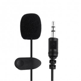 Clip-on Lapel Mini Lavalier Mic Microphone with 3.5mm For Mobile Phone PC Recording