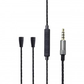Audio Cable Cord Mic Remote For Sennheiser IE8 IE80 Headphones Android iPhone