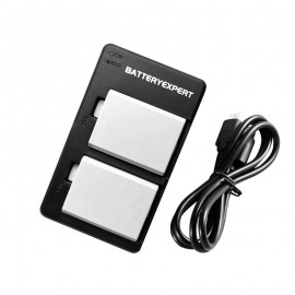 2x Replacement Battery + USB Dual Charger for Canon EOS 1000D Camera