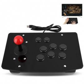 USB Fighting Stick Arcade Controller Gamepad Game Joystick with 8 Buttons for PC Computer Game