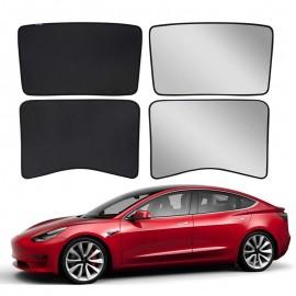 Tesla Model 3 Glass Roof Sunroof Mesh Top Window Sun Blind Shade Sunshade with UV Heat Insulation Film