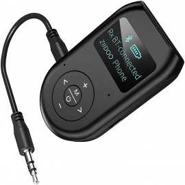 3in1 Bluetooth 5.0 Wireless Audio Adapter Transmitter Receiver with 3.5mm for TV PC Stereo System Headphones Speaker