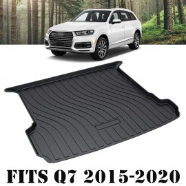 Cargo Rubber Waterproof Mat Boot Liner Cover Luggage Tray for Audi Q7 2015 2016 2017 2018 2019 2020