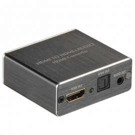 4K HDMI to HDMI and Optical TOSLINK SPDIF + 3.5mm Stereo Audio Extractor Converter HDMI Audio Splitter Adapter