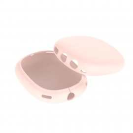 Pink Silicone Case Compatible with Apple AirPods Max Headphone Shockproof Protector Anti-slip Shatter-Resistant Protective Frame Full Cover