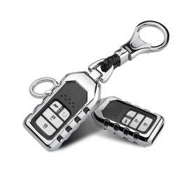 Luxury Zinc Alloy Metal Car Key Case Cover for Honda CRV HR-V Accord Odyssey Civic Jazz