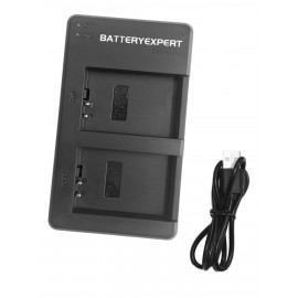 External USB Dual Charger for Canon EOS 100D Camera Battery