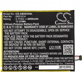 Amazon Kindle Fire HD 8 eReader Replacement Battery