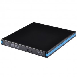 USB 3.0 External Portable Blu-Ray Combo Player DVD CD Burner ReWriter Drive 3D for Windows 10 8 7 XP,Mac OS,Linus Laptop Desktop
