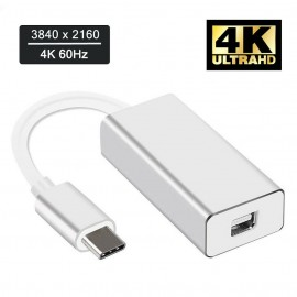 USB 3.1 Type C USB-C Thunderbolt 3 to Mini Display Port DP 4K Video Adapter Cable