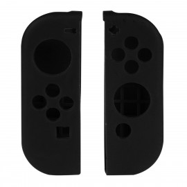 Nintendo Switch Joy-Con Controller Silicone Cover Skins with Thumb Stick Joypad Cap Black