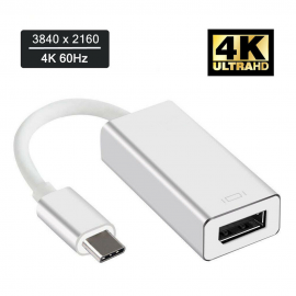 USB 3.1 Type C USB-C Thunderbolt 3 Male to DisplayPort DP Female 4K Video Adapter Cable for Macbook/Surface book 2