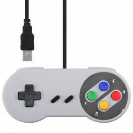 Classic SNES SFC Style Retro Game USB Controller Gamepad Joystick Joypad For PC MAC Windows