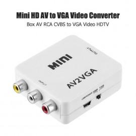 AV2VGA RCA Composite AV CVBS 3RCA to VGA HD Video Cable Converter Adapter with 3.5mm Audio