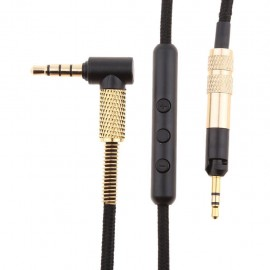 Replacement Audio Cable Mic Remote for Sennheiser HD598 HD599 HD569 HD558 HD518 Headphones