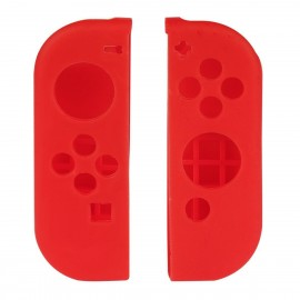Nintendo Switch Joy-Con Controller Silicone Cover Skins with Thumb Stick Joypad Cap Red