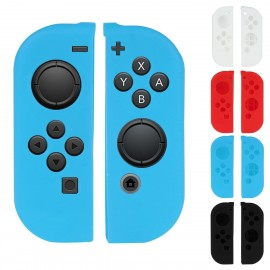 Nintendo Switch Joy-Con Controller Silicone Cover Skins with Thumb Stick Joypad Cap Blue