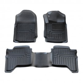 3D Heavy Duty All Weather Car Floor Mat Carpet Liner Complete Set for Ford Ranger PX PX2 PX3 Dual Double Cab 2011-2020