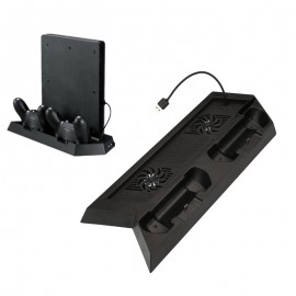PlayStation 4 PS4 Stand Dock Controller Charger with Cooling Fan USB Hub