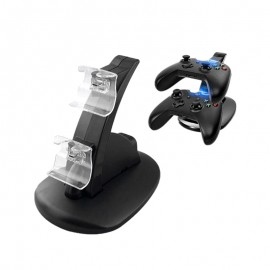 Xbox One Dual USB Controller Charger Dock Station Charging Stand with LED