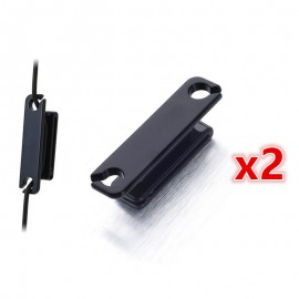 2x Cable Wire Clip Winder Wrapper Handsfree for Sony Sennheiser Headphone Headset