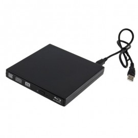 USB External Portable Blu-Ray Burner ReWriter Player Reader Drive for Win 10/8/7/XP,Mac OS,Linus Laptop Desktop