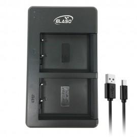 USB Dual Charger for Fujifilm Fuji Camera FinePix HS30EXR Battery