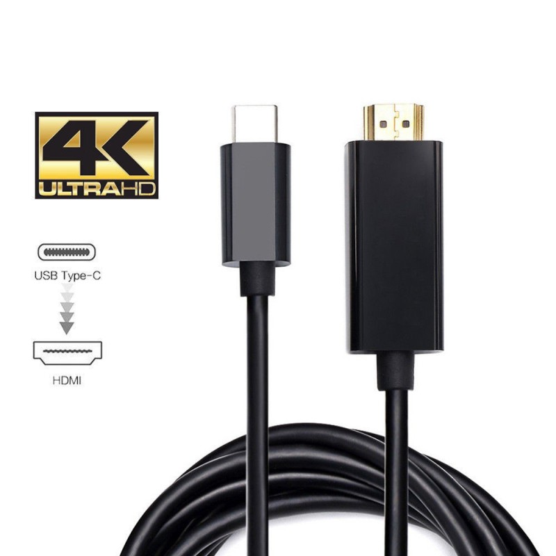 Usb C Type C Usb 3 1 Male To Hdmi Male Hdtv 4k Adapter Converter Cable Batteryexpert